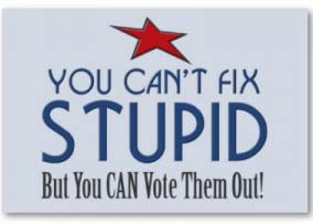 You Can't FIX Stupid, But You CAN Vote Them Out!