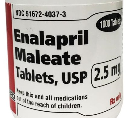 Enalapril label
