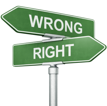 Wrong Way -- Right Way